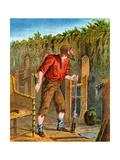 Illustration from Robinson Crusoe Giclee Print