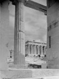View of Workers at Parthenon Building Site Photographic Print by Philip Gendreau
