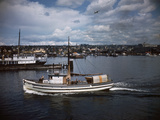 Halibut Fishing Vessel Alma in Salmon Bay Photographic Print by Ray Krantz