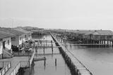 Housing Settlement on Brunei River Photographic Print