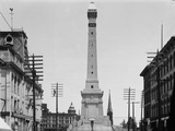 Soldiers and Sailors Monument during Construction in Indianapolis Photographic Print