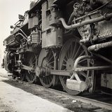 Oil Powered Southern Pacific Locomotive Wheels Photographic Print