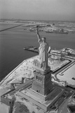 Aerial View of Statue of Liberty Photographic Print