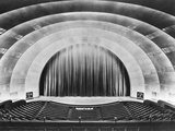 Overall View of Stage and Proscenium of Radio City Music Hall. Photographic Print