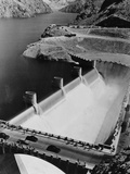 Lake Mead Flowing over Boulder Dam Photographic Print by Philip Gendreau