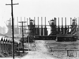 Chemical Plant with Adjoining Settlement Photographic Print