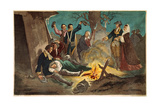 George Washington and Wife Visiting Troops Giclee Print