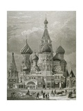 Russia, Moscow, St. Basil's Cathedral, Engraving Giclee Print by  Tarker
