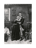 George Washington and His Mother Embracing Giclee Print