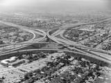 Aerial View of Highway and Suburbs Photographic Print by Charles Rotkin