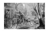 The Midnight Ride of Paul Revere Illustration Giclee Print