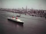United States Passing New York Skyline Photographic Print