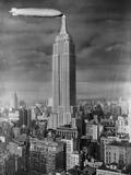 Dirigible Docked at Empire State Building Photographic Print