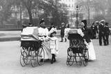 Nannies and Children Strolling in Park Photographic Print