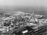 Aerial View of Petrochemical Plant Photographic Print