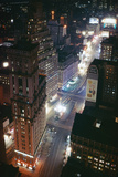Times Square and Garment District at Night Photographic Print