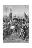 George Washington Taking Command of Army Giclee Print