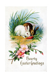 Hearty Easter Greetings Postcard Giclee Print by David Pollack