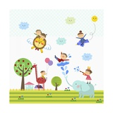 Happy Children Enjoying their Time Giclee Print by  TongRo
