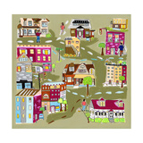 Townscape Giclee Print by Linda Ketelhut