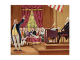 Benjamin Franklin Gesturing and Speaking in Constitutional Convention Giclee Print
