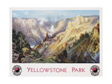 Yellowstone Park Northern Pacific Railway Poster after Thomas Moran Giclee Print