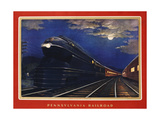 Pennsylvania Railroad, Leaders of the Fleet of Modernism by Grif Teller Giclee Print