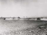 Distant View of Soldiers Walking to Destination Photographic Print