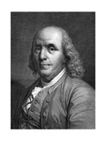 Engraved Portrait of Benjamin Franklin Giclee Print
