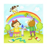 Education and Children's School Life Giclee Print by  TongRo