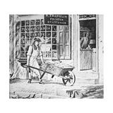 Benjamin Franklin's Printing Shop Giclee Print