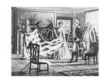 George Washington Viewing Flag Giclee Print