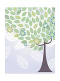 Tree Backdrop Giclee Print by  TongRo