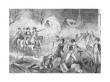 George Washington and Soldiers Attacking Hessians Giclee Print