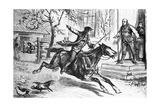 Illus. of Paul Revere on Horseback Giclee Print