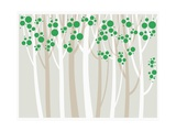 Forest Illustration Giclee Print by  TongRo