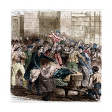 Illustration of Cholera in Paris by Jules Pelcoq Giclee Print by Stefano Bianchetti