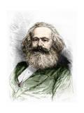 Portrait of Karl Marx Giclee Print by Stefano Bianchetti