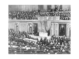Woodrow Wilson Addressing Congress Giclee Print