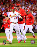 Trevor Rosenthal & Adam Wainwright celebrate winning Game 4 of the 2014 National League Division Se Photo