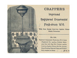 Advertisement for Crapper's Toilet Giclee Print