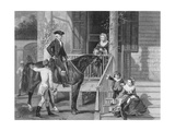 George Washington at Home with Family Giclee Print