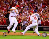 Matt Adams &Trevor Rosenthal celebrate winning Game 4 of the 2014 National League Division Series Photo
