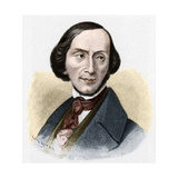Portrait of Hans Christian Andersen Giclee Print by Stefano Bianchetti