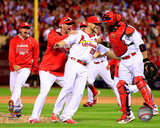 The St. Louis Cardinals celebrate winning Game 4 of the 2014 National League Division Series Photo