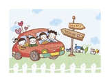 Cordial Family Spend Happy Time Altogether Giclee Print by  TongRo