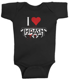 Infant: Testament - I Heart Thrash Creeper Infant Onesie