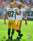 Aaron Rodgers & Jordy Nelson 2014 Action Photo