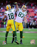 Randall Cobb & Jordy Nelson 2013 Action Photo