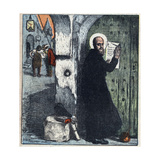 Illustration of Saint Francis of Sales Posting Tracts on Protestant Homes Giclee Print by Stefano Bianchetti